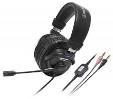 AudioTechnica Sealed Headphone Stereo Headset Black ATH-770COM With Tracking New