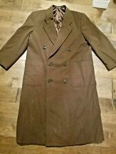 Giorgio Armani Mani Men's Wool Top Over Coat Italy Brown 48 reg Retailed $715.00