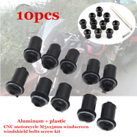 10x M5 Motorcycle Windscreen Windshield Fairing Screen Nut Bolt Screw Strength