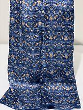 100% Silk Scarf Shawl Wrap created w Liberty Of London Satin 'Strawberry Thief'
