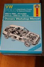 VW Polo Hatchback Coupe Saloon 1982 - 1986 Haynes Owners Workshop Manual 813