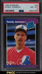 1989 Donruss Randy Johnson ROOKIE RC #42 PSA 8 NM-MT