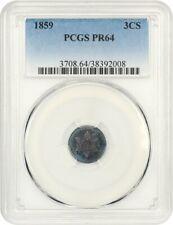 1859 3cS PCGS PR 64 - 3-Cent Silver