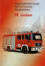 Rosenbauer Kommunalfeuerwehren Prospekt 9/99 1999 Feuerwehrfahrzeuge Feuerwehr