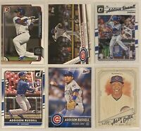 ⚾️Addison Russell 6-CARD LOT including ROOKIE 2015 Bowman Prospects #BP117
