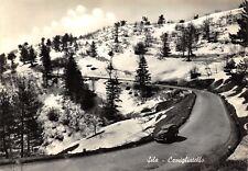 1669) SILA, CAMIGLIATELLO (COSENZA) AUTOMOBILE, NEVE. VIAGGIATA NEL 1957.