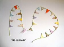 "DOLLS HOUSE - MINIATURE ""FLORAL"" PENNANT BUNTING / CARD TOPPER"