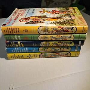 """LOT OF 5 """"HAPPY HOLLISTERS"""" BOOKS - JERRY WEST 10 11 12 13 15"""