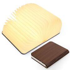2Pcs USB Wooden Foldable LED Nightlight Booklight Folding Magnetic Book Lamp