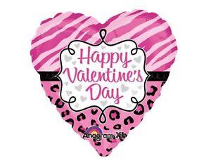Happy Valentine Balloons, Girlfriend Wife Anagram Safari Heart Balloon 2p Ribbon