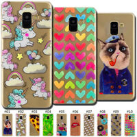 Clear Soft Protected TPU Case Cover Back Painted Fashion Skin For Samsung Galaxy