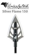 GRIZZLYSTIK-Silver Flame®- 150 grain Broadheads, 3pk