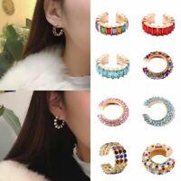 Fashion Crystal Clip Stud Ear Cuff Women Wrap Cartilage Earrings Jewellery Gift