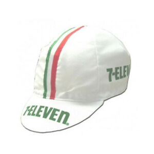 7-Eleven Vintage Cycling Cap White Retro Classic Look Bicycle Cap