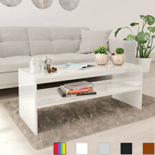 Modern Rectangle Home Living Room Coffee Table With Lower Shelf 100x40x40cm MEW
