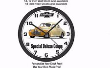 1941 CHEVROLET SPECIAL DELUXE COUPE WALL CLOCK-FREE USA SHIP