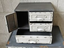 Industrial Vintage Metal Storage Chest Of Drawers Cabinet Display Unit 25cm