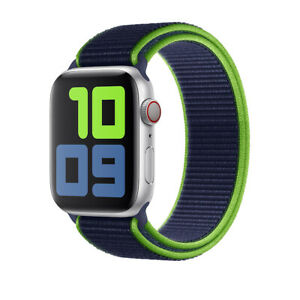 Nylon Sport Loop for Apple Watch Series 6 5 4 3 2 SE iWatch Band Strap 40mm 44mm