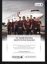 QATAR AIRWAYS FC BARCELONA FUTBALL SOCCER TEAM CAMP NOU 2014 AD