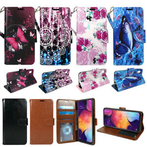 """For Samsung Galaxy A10e (5.8""""), PU Leather Wallet Phone Case Flip Stand Strap"""