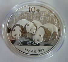 2013 Silver Chinese Panda 1 oz .999 Silver Bullion Coin - China 10 Yuan