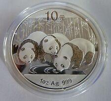 Plata 2013 panda chino 1 OZ (approx. 28.35 g) .999 plata moneda del lingote-China 10 Yuan