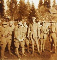 Anteriore Del Carso Officiers Guerre 14-18 Mondiale Foto Stereo Placca Da Lente