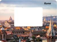 Rome Italy Magnet Picture Frame 12 CM Photo Epoxy Travel Souvenir