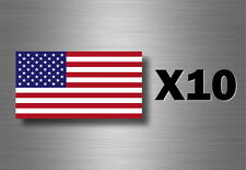 Pack of 10 x sticker american usa flag vinyl car motorcycle military army