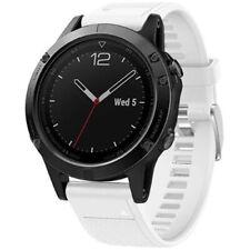 General Brand White Silicone Wrist Band for Garmin Fenix 5 Smartwatch