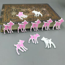 Pink and Black Deer wooden buttons sewing Scrapbooking decorative Crafts 29mm