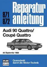 AUDI 90 Quattro Coupe ab 1984 Typ 85 B2 Reparaturanleitung Reparatur-Handbuch
