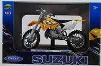 WELLY SUZUKI RM250 1:18 DIE CAST MODEL NEW LICENSED MOTORCYCLE