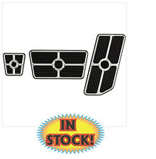 Billet Specialties 198625 - Universal Grooved Pedal Kit - Black Anodized
