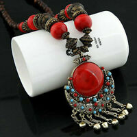 Boho Long Chain Vintage Sweater Retro Women Pendant Trendy Necklace Jewelry