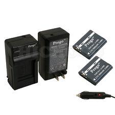 Progo 2 x  Li-90b Battery + Charger Kit For Olympus XZ-2 SH-50 Tough TG-1 TG-2
