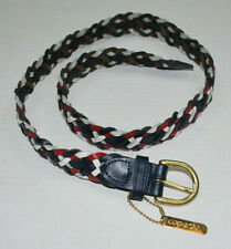 Capezio Womens Braided Belt M/L Leather Red White Blue Made Argentina Vintage