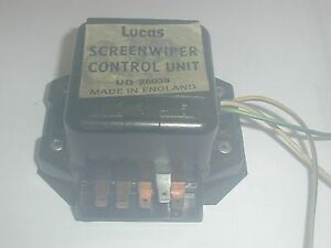 SCREENWIPER (WINDSHIELD WIPER) CONTROL UNIT, ROLLS ROYCE, UD26038, LUCAS