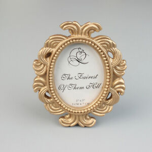 Retro Oval Vintage Resin Small Photo Picture Frame Wedding Home Table Decoration