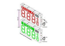 """LED Gas Price  Sign  72"""" X 72"""" Double Sided cabinet with 24 inch Digits"""