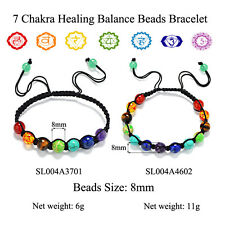 7 Chakra Healing Balance Beads Bracelet Yoga Life Energy Bracelet Jewelry HS