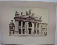 1870ca ROMA Basilica di San Giovanni in Laterano foto all'albumina