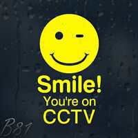 Smile! You're On CCTV Vinyl Sticker For Shops Pubs Hotels Cafes Offices Bars
