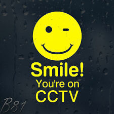 Smile! You're On CCTV Vinyl Sticker For Shops Pubs Hotels Cafes Offices Bars