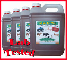 * Equine / Horse stable disinfectant 4 x 5 litre contains lab tested product **