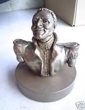 Vintage Bronze Bust Statue of War General Signed LOOK