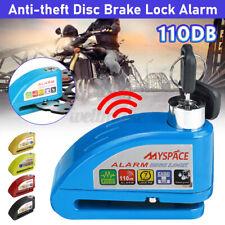 Anti-Theft Bike Motorbike Motorcycle Scooter Alarm Disc Lock Brake Lock Alarm