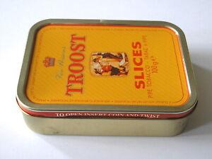 Vintage Troost Slices Pipe Tobacco Tin Van Rossem Holland