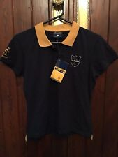 WALLABIES CREST WOMEN'S NAVY BLUE POLO TOP SIZE 14 BRAND NEW