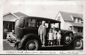 VINTAGE PHOTOGRAPH 1932 CAR/AUTO LITTLE GIRLS PICHER TECUMSEH OKLAHOMA OLD PHOTO